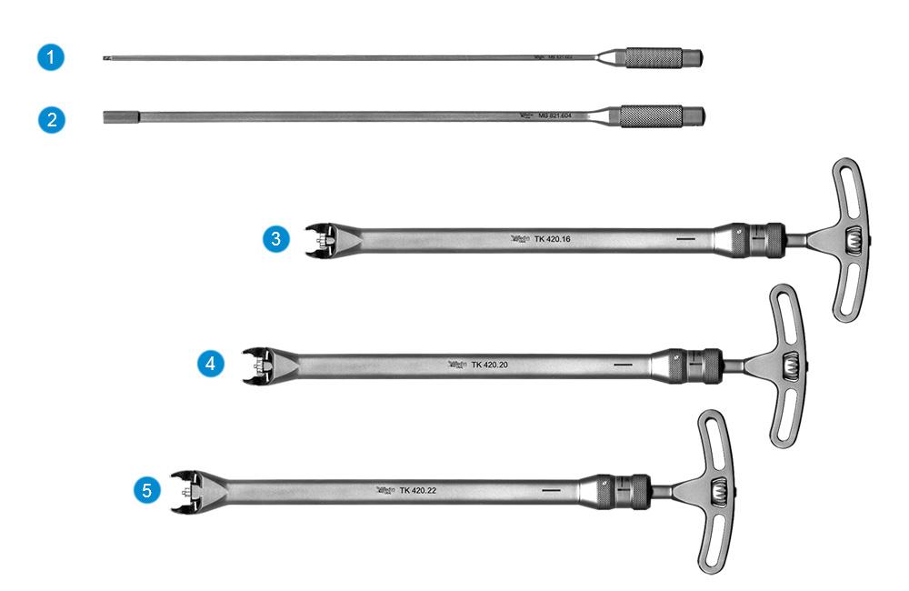 Набор инструментов для установки эндопротеза «ТЕЛЛУР»